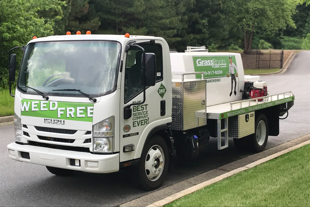 GrassRoots Lawn Care Service Truck Union City Ga